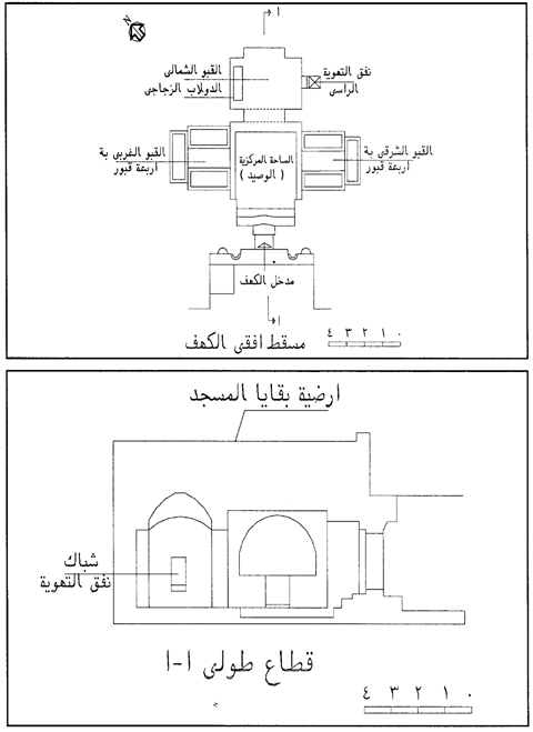 Gambar 4. Sketsa bangunan gua Kahfi (Sumber: Waziry, 2013: 173)