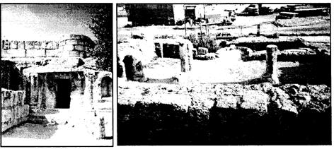 Gambar 2. Sisa-sisa peninggalan Masjid di Gua Kahfi (Sumber: Waziry, 2013: 170)
